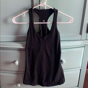 Black lululemon racer back tank